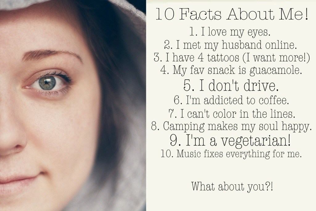 10 Questions About Me Instagram 10 facts about me!